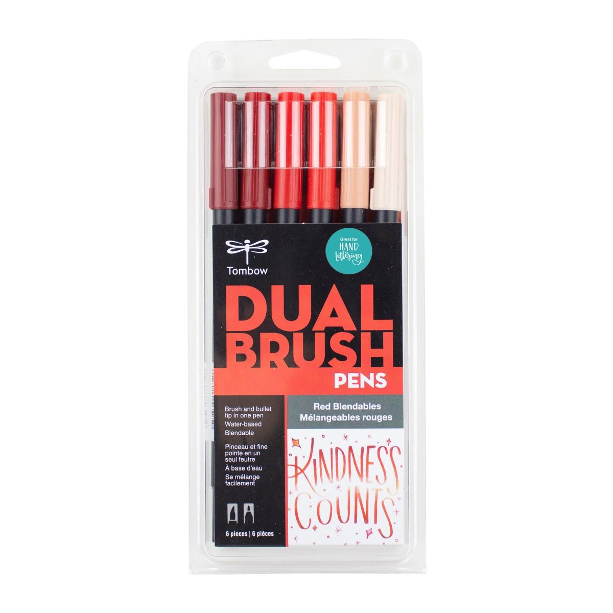 Red Blendables 6-Pack - Dual Brush Pens