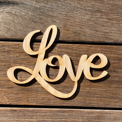 Plywood Word Love