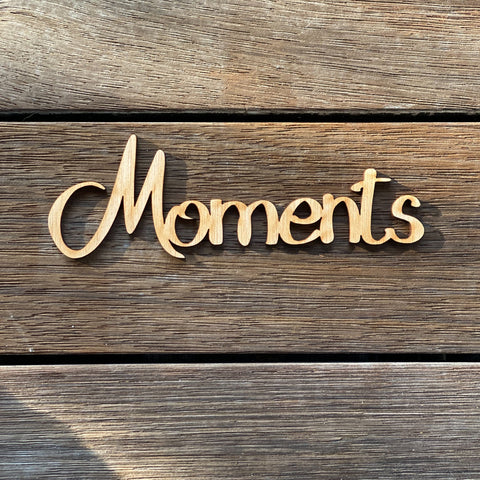 Plywood word - Moments