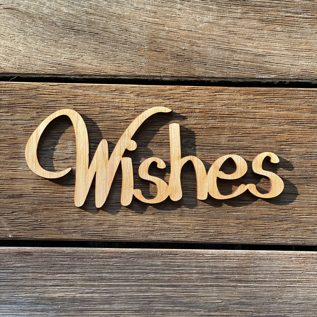 Plywood Word - Wishes