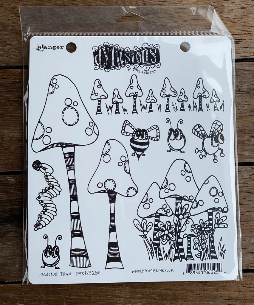 Ranger Dylusions Stamps - Toadstool Town
