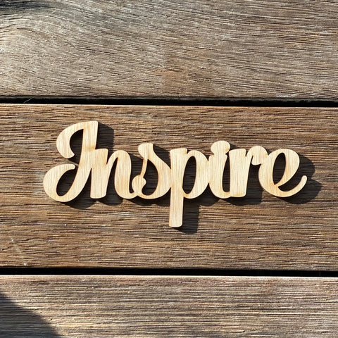 Plywood word - Inspire
