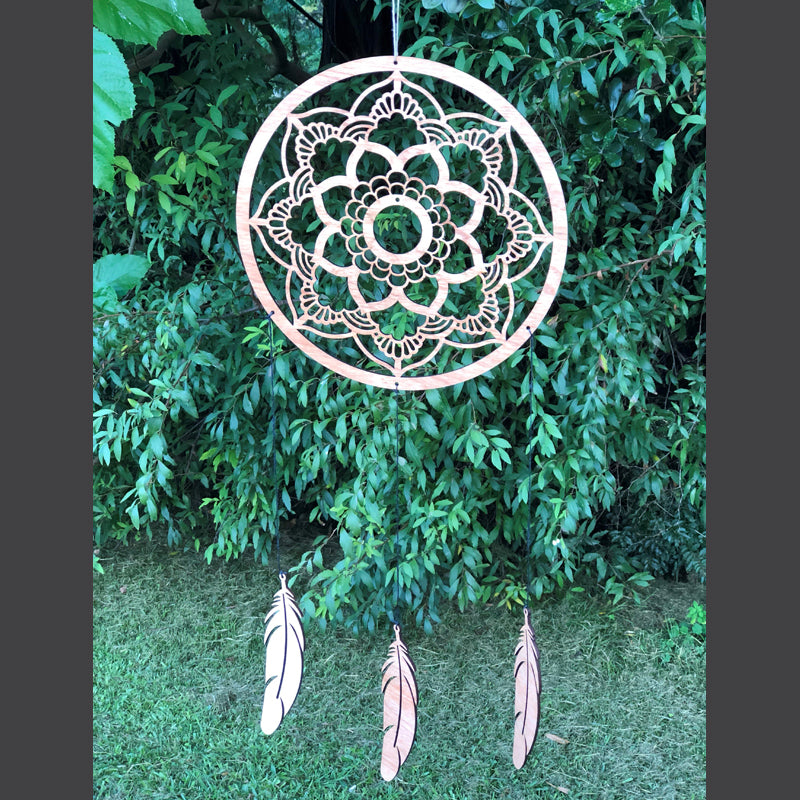 Dream Catcher with Hanging Feathers