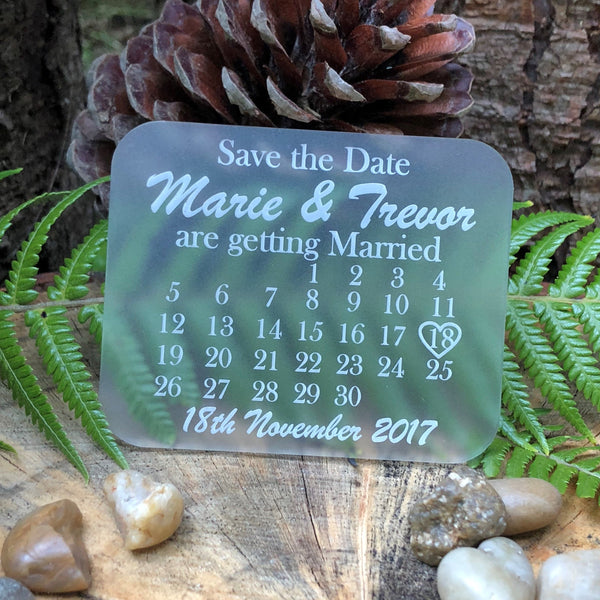 Acrylic Rectangle Save the Date