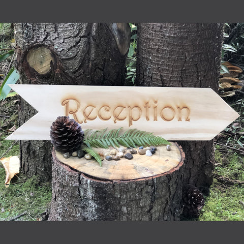 Arrow Reception Sign