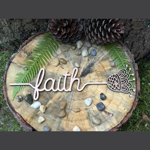 Word Flower - Faith
