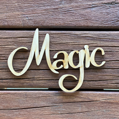 Plywood word - Magic