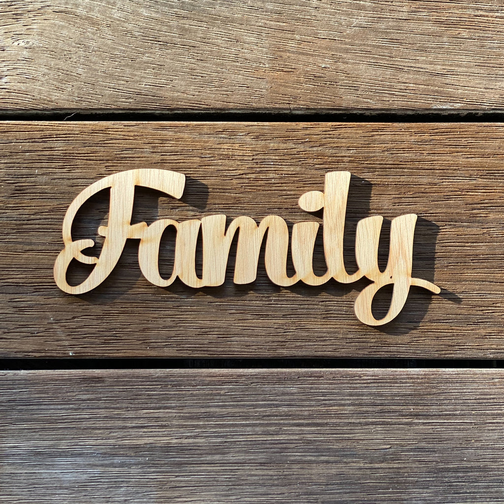 Plywood word - Family