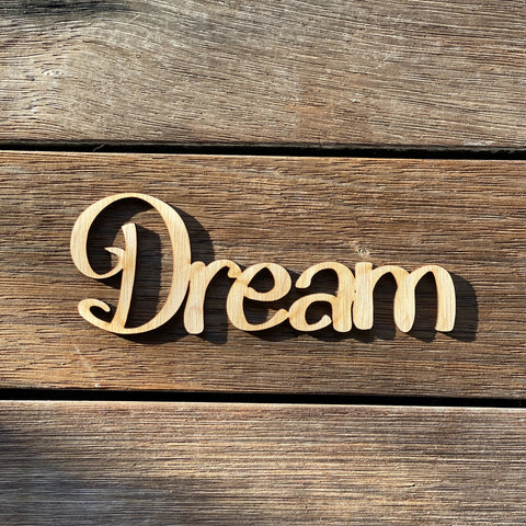 Plywood word - Dream