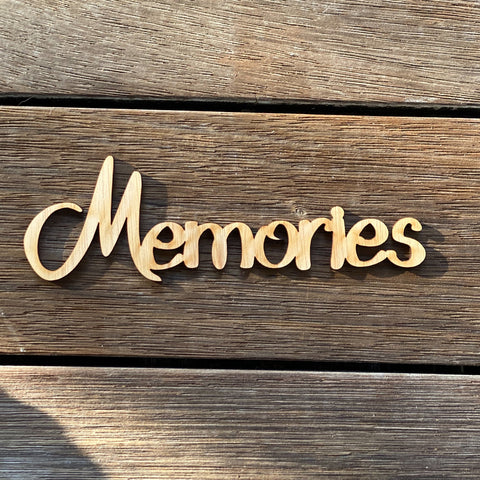 Plywood Word - Memories