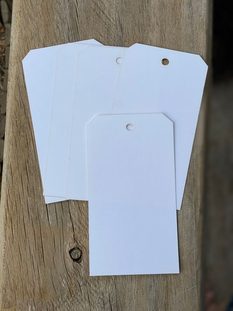 Card Stock Tags - 5 Pack.