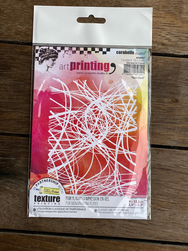 Carabelle Studios Art Printing - Rubber Texture Plates Strings