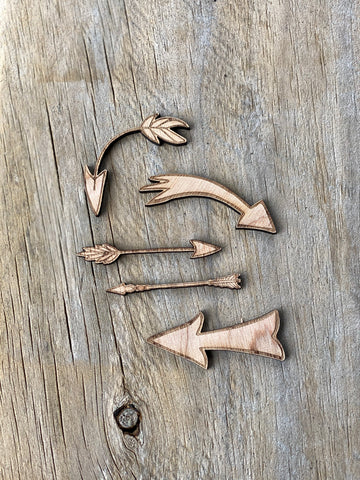 5 pack Arrows - Plywood