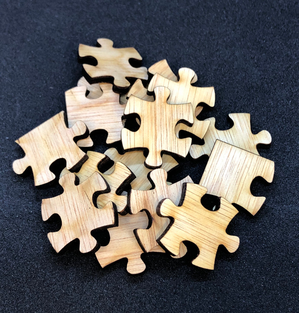 Small Plywood puzzle pieces