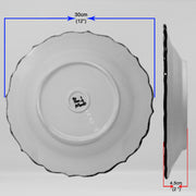 "HAND MADE TURKISH CERAMIC PLATE, 30 cm(11.8"") no21 - TurkishLights.NET"