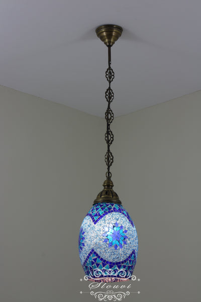 Turkish Handmade Mosaic Hanging Pendant - Kitchen Island Pendant - TurkishLights.NET