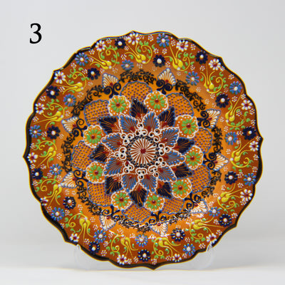 "HAND MADE TURKISH CERAMIC PLATE, 30 cm(11.8"") P03 - TurkishLights.NET"