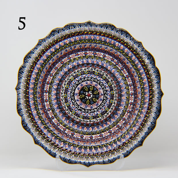 "HAND MADE TURKISH CERAMIC PLATE, 30 cm(11.8"") P05 - TurkishLights.NET"