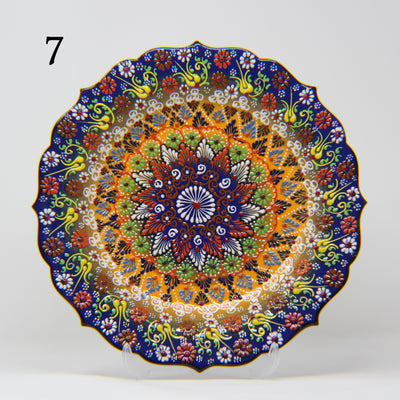 "HAND MADE TURKISH CERAMIC PLATE, 30 cm(11.8"") no7 - TurkishLights.NET"