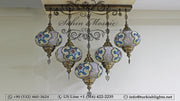 Kitchen Island Pendant With 5 Extra Large Globes, ID: 104 - TurkishLights.NET