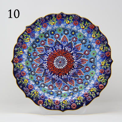 "HAND MADE TURKISH CERAMIC PLATE, 30 cm(11.8"") P10 - TurkishLights.NET"