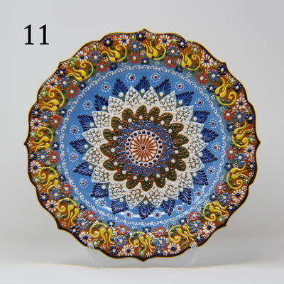 "HAND MADE TURKISH CERAMIC PLATE, 30 cm(11.8"") no11 - TurkishLights.NET"