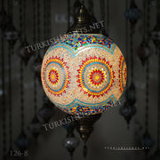 "Hanging Lamps with 20"" Globe - TurkishLights.NET"