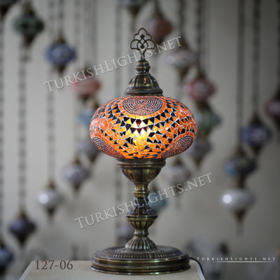 Turkish Mosaic Table Lamp, Extra Large Globe (NO5 GLOBE) ID:127 - TurkishLights.NET