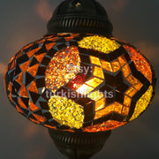 MOSAIC TABLE LAMP - LARGE GLOBE - TurkishLights.NET