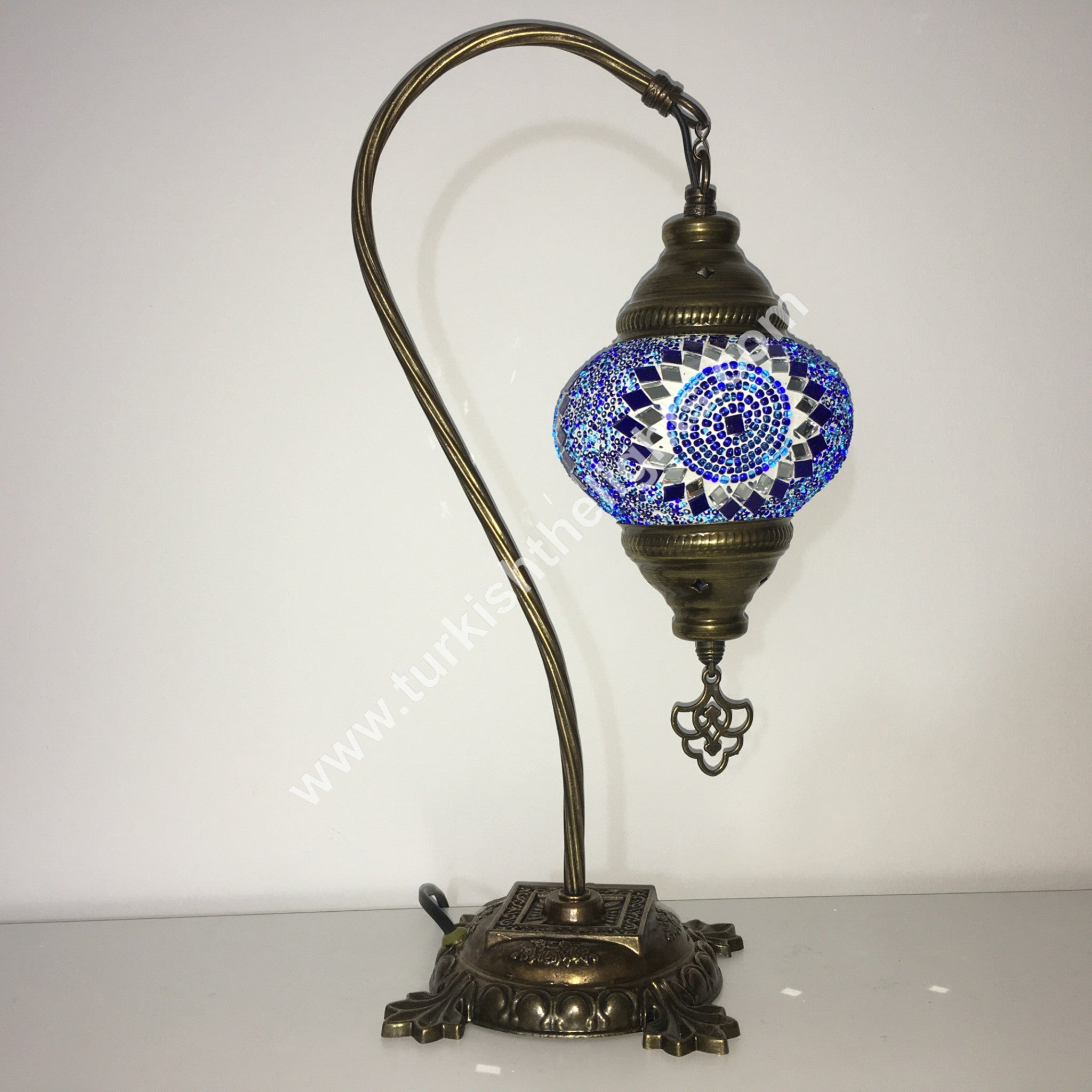 Swan Neck Mosaic Table Lamp Turkishlights Net