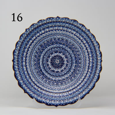 "HAND MADE TURKISH CERAMIC PLATE, 30 cm(11.8"") no16 - TurkishLights.NET"
