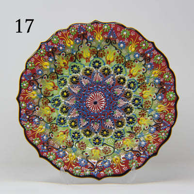 "HAND MADE TURKISH CERAMIC PLATE, 30 cm(11.8"") no17 - TurkishLights.NET"
