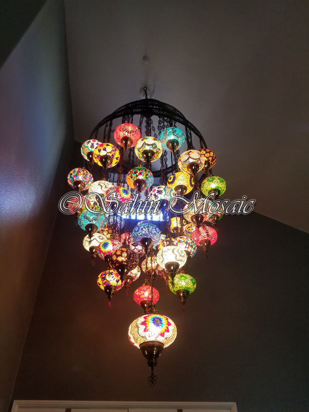 51 Globe Chandelier - TurkishLights.NET