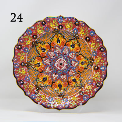 "HAND MADE TURKISH CERAMIC PLATE, 30 cm(11.8"") no24 - TurkishLights.NET"