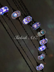 Turkish Mosaic Chandelier with 13 Large Globes (water drop model) , ID:152 - TurkishLights.NET