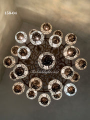 Turkish Mosaic Chandelier With 24 Medium Globes  ,ID: 158, FREE SHIPPING - TurkishLights.NET