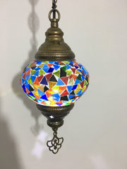 Turkish Handmade Mosaic  Hanging Lamp - Medium globe - TurkishLights.NET