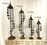 Turkish Mosaic Floor Lamp Fixtures (Not Included Globes) - TurkishLights.NET