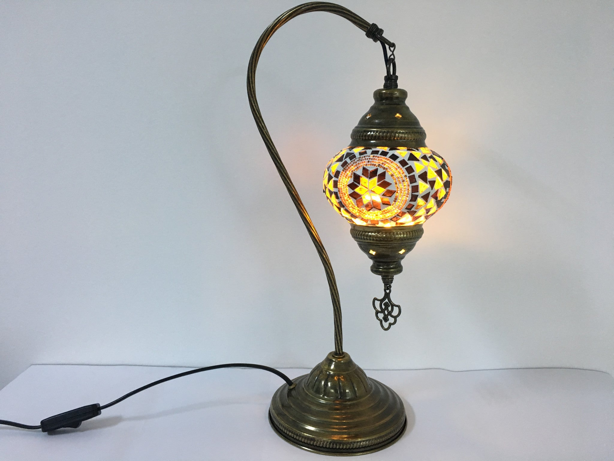 Mosaic Table Lamp Swan Neck Turkishlights Net