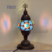 TURKISH MOSAIC TABLE LAMP,  MEDIUM GLOBE , TB19 - TB27 - TurkishLights.NET
