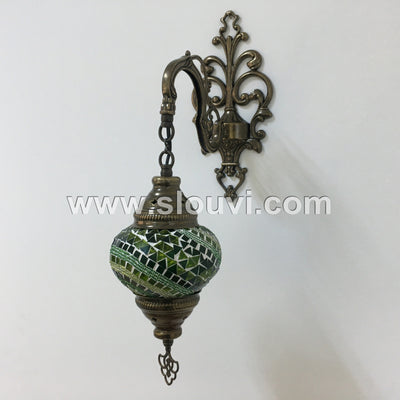SINGLE MOSAIC SCONCE - TurkishLights.NET
