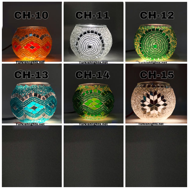 Turkish Mosaic  Candle Holder, Product Id: ch00 - TurkishLights.NET