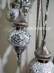 FLOOR LAMP WITH  7 Medium GLOBES and CHROME FINISH ,ID:134 - TurkishLights.NET