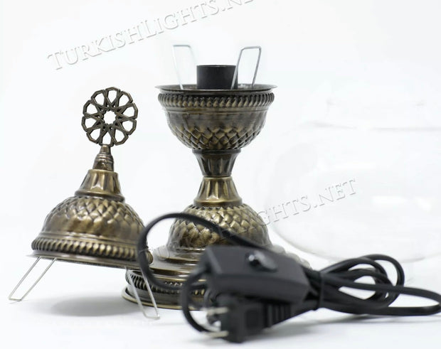 Mosaic Table Lamp Fixture for Medium and Large Globes - TurkishLights.NET