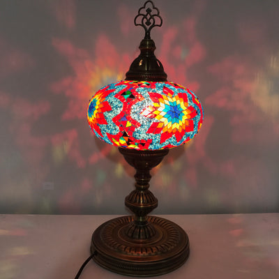 MOSAIC TABLE LAMP - EXTRA LARGE GLOBE - TurkishLights.NET