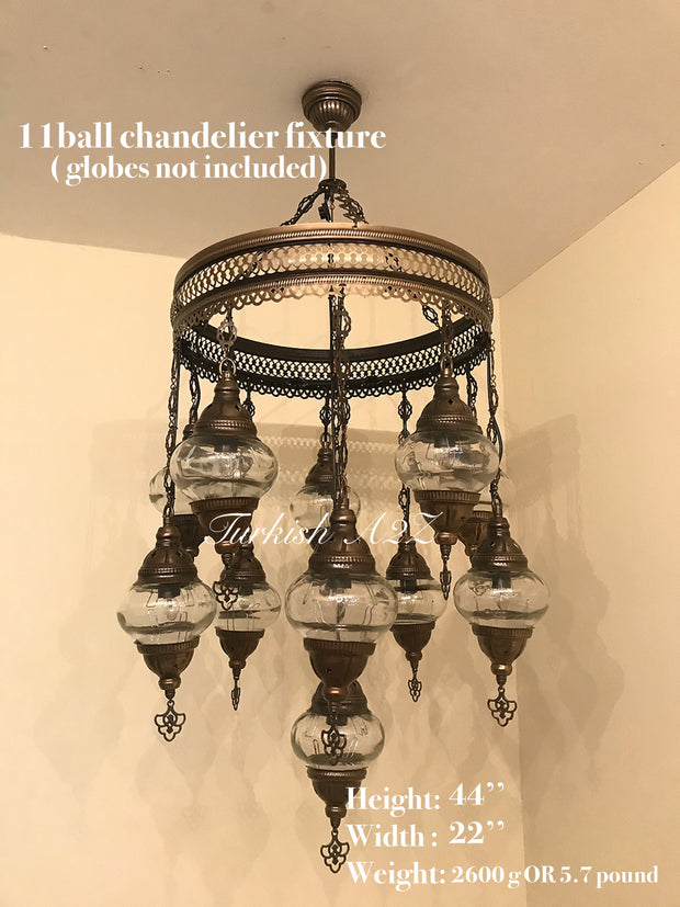 Turkish Mosaic Chandelier Fixtures (Not Included Globes) - TurkishLights.NET