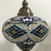 Turkish Mosaic Table Lamp, Extra Large Globe (NO5 GLOBE) - TurkishLights.NET