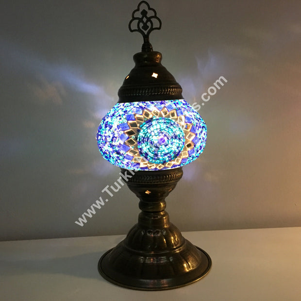 TURKISH MOSAIC TABLE LAMP - TurkishLights.NET