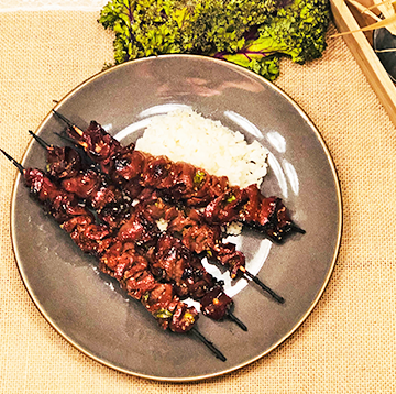 Wagyu Beef Heart Skewers