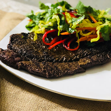 Moroccan Spiced Wagyu Beef Top Round Steak